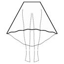 High-low (TEA) semi circular skirt