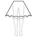 High-low (BELOW KNEE) circular skirt
