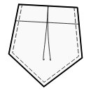 5-corner pocket with central pleat