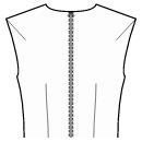 Back end of shoulder and waist darts