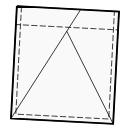 Pocket with slanted folds