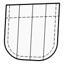 Pocket with triple pleats