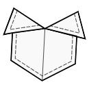 Origami pocket
