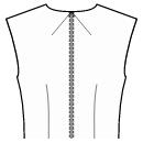 Back neck center and waist dart