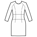 Dress with raglan sleeves and waist inset