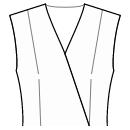 Front shoulder and waist darts