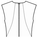 Back princess seam: neck to waist side