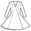 No waist seam, full circle panel skirt