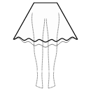 High-low (BELOW KNEE) circular skirt
