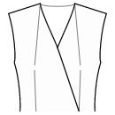 Front top neckline and waist darts