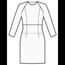Dress with zero raglan sleeves and waist inset