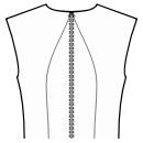 Back princess seam: neck center to waist