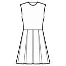 8-panel skirt with box pleats