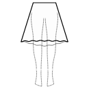 High-low (BELOW KNEE) 1/3 circle skirt