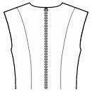 Back design: princess seams