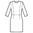 Dress with waist seam