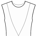 Princess front seam: shoulder to waist center