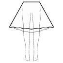 High-low (BELOW KNEE) semi circular skirt