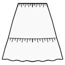 2-tiered skirt