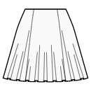 1/3 circle 6 panel skirt