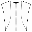 Back princess seam: neck top to waist side