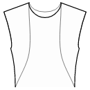 Princess front seam: neck top to waist side
