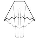 High-low (TEA) circular skirt