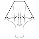 High-low (MIDI) circular skirt