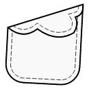 Cloud-shaped 1-piece flap