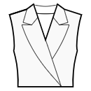 Jacket style collar with shaped curved lapel