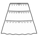 3-Tiered skirt
