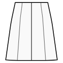 8-panel skirt with waist seam