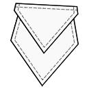 Diamond pocket with sharp flap