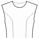 Princess front seam: Upper armhole to waist