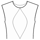 Princess front seam: neck center to waist center