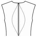 Back princess seam: neck center to waist center