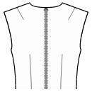 Back shoulder and waist dart