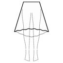 High-low (MIDI) 1/3 circle skirt