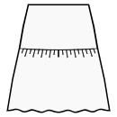 A-line skirt with gathered flounce