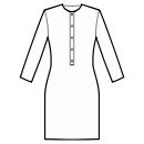 Button closure neck to waist