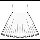 Semi circular skirt