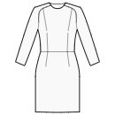 Dress with saddle raglan and waist seam
