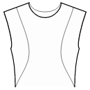 Princess front seam: shoulder to waist side