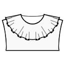 Wide flounce collar