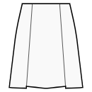 A-line skirt with 2 pleats