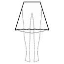 High-low (BELOW KNEE) 1/3 circle skirt