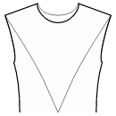 Princess front seam: shoulder end to waist center