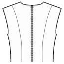 Back princess seam: shoulder to waist