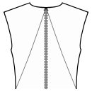Back princess seam: neck center to waist side