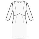 Dress with shaped high waist seam